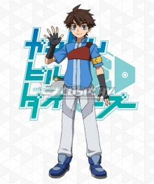 Gundam Build Divers Riku Mikami Cosplay Costume