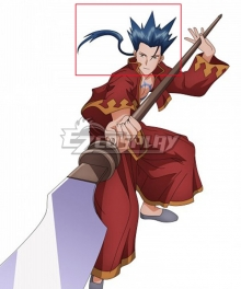 Hack//Sign Crim The Red Lightning Blue Cosplay Wig