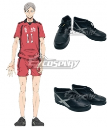 Haikyu!! Haikyuu!! Second Season Nekoma High Nekoma Koukou Lev Haiba Black Cosplay Shoes