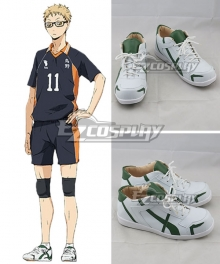Haikyuu!! Kei Tsukishima White Cosplay Shoes