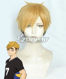 Haikyuu!! Season 4 Haikyuu!!: To the Top Atsumu Miya Golden Cosplay Wig