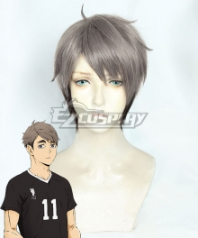 Haikyuu!! Season 4 Haikyuu!!: To the Top Osamu Miya Gray Cosplay Wig