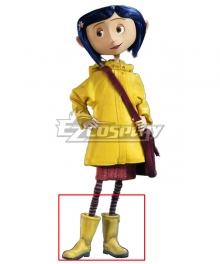 Halloween Coraline 2009 Movie Yellow Shoes Cosplay Boots