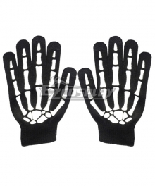 Halloween Skull Gloves Overlord Ainz Ooal Gown Tim Burton's Corpse Bride Emily Jack Skellington Gloves Cosplay Accessory Prop