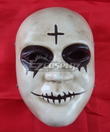 Halloween The Purge 2: Anarchy Cross Mask Cosplay Accessory Prop