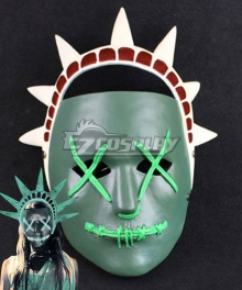 Halloween The Purge 3 : Election Year Lady Liberty Mask Cosplay Accessory Prop