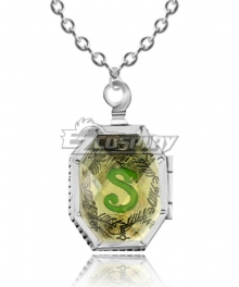 Harry Potter and the Deathly Hallows Slytherin's Locket Necklace Cosplay Accessory Prop
