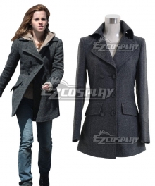 Harry Potter Hermione Jane Granger Hermione Jean Granger Grey Coat Cosplay Costume