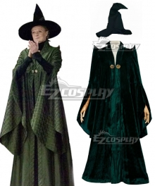 Harry Potter Professor Minerva McGonagall Helloween Cosplay Costume
