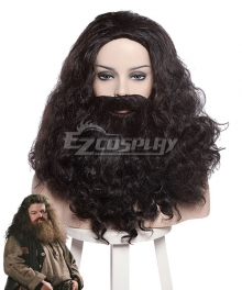 Harry Potter Rubeus Hagrid Black Cosplay Wig