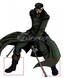Hellsing Ova The Captain Black Shoes Cosplay Boots