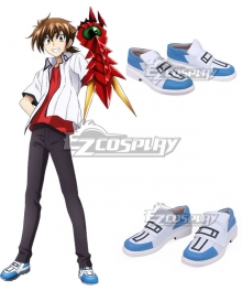 High School DxD BorN Issei Hyoudou Blue Cosplay Shoes