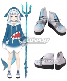 Holdlive Virtual YouTuber English Gawr Gura White Cosplay Shoes