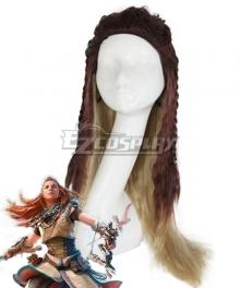 Horizon: Zero Dawn Aloy Brown Orange Cosplay Wig