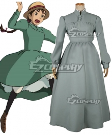 Howl's Moving Castle Sophie Hatter Gray-green Cosplay Costume