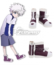 Hunter × Hunter Killua Zoldyck Brown Shoes Cosplay Boots