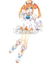 Hyperdimension Neptunia Orange Heart Cosplay Costume