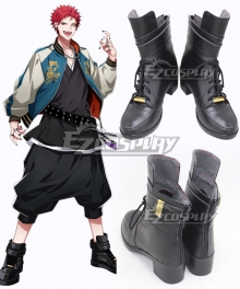 Hypnosis Mic Bad Ass Temple Evil Monk Kuko Harai Black Cosplay Shoes