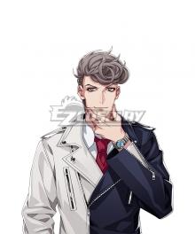 Hypnosis Mic Bad Ass Temple Hitoya Amaguni Grey Cosplay Wig