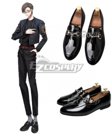 Hypnosis Mic Division Rap Battle 45 Rabbit Juto Iruma Black Cosplay Shoes