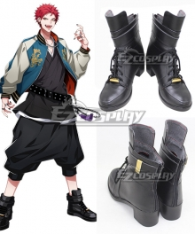 Hypnosis Mic Division Rap Battle Harai Kuko Evil Monk Black Cosplay Boots