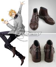 Hypnosis Mic Division Rap Battle Hifumi Izanami GIGOLO Brown Cosplay Shoes