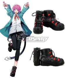 Hypnosis Mic Division Rap Battle Ramuda Amemura Easy R Black Red Cosplay Shoes