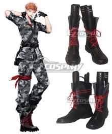 Hypnosis Mic Division Rap Battle Riou Mason Busujima Crazy M Black Shoes Cosplay Boots