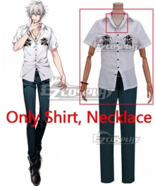 Hypnosis Mic Division Rap Battle Samatoki Aohitsugi MC.Hc Hardcore Cosplay Costume - Only Shirt, Necklace