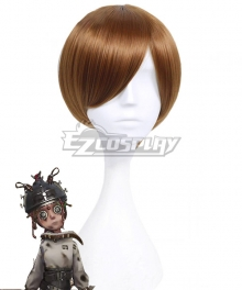 Identity V Mechanic Tracy Reznik Cunning Smile Disease Halloween Brown Cosplay Wig