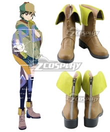 ID:INVADED Miyo Hijiriido Koharu Hondomachi Brown Shoes Cosplay Boots
