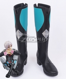 Idolish 7 Tenn Kujo Black Blue Shoes Cosplay Boots