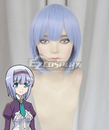 In Another World With My Smartphone Isekai Wa Smartphone To Tomo Ni. Linze Silhoueska Blue Cosplay Wig