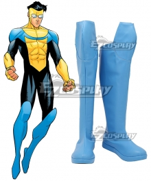 Invincible Mark Grayson blue Shoes Cosplay Boots