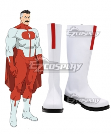 Invincible Omni-Man White Shoes Cosplay Boots
