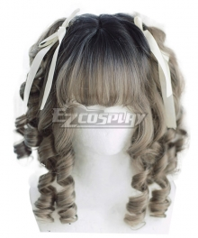 Japan Harajuku Lolita Series Baroque Gray Cosplay Wig