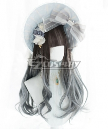 Japan Harajuku Lolita Series Blue Grey Cosplay Wig