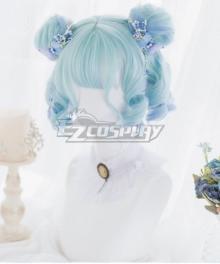 Japan Harajuku Lolita Series Cloud Jellyfish Blue Cosplay Wig