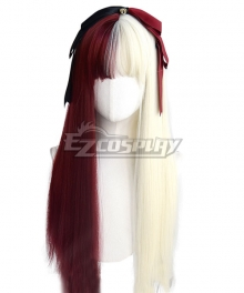 Japan Harajuku Lolita Series Different world Red White Cosplay Wig