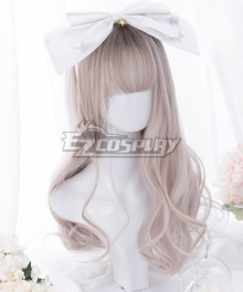 Japan Harajuku Lolita Series Gradient Light Grey Cosplay Wig