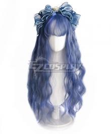Japan Harajuku Lolita Series Gray Blue Cosplay Wig