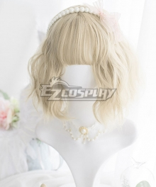 Japan Harajuku Lolita Series Light Golden Short Cosplay Wig