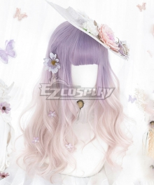 Japan Harajuku Lolita Series Purple Gradient Cosplay Wig