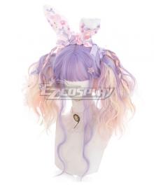 Japan Harajuku Lolita Series Rainbow Unicorn Purple Cosplay Wig