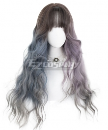 Japan Harajuku Lolita Series Witch dream Gray Pink Blue Cosplay Wig