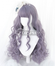 Japan Harajuku Lolita Seriest Light Purple Cosplay Wig - Only Wig