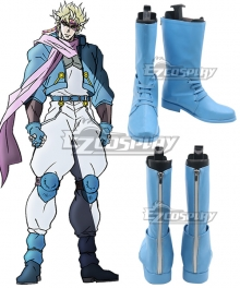 JoJo's Bizarre Adventure: Battle Tendency Caesar Anthonio Zeppeli Blue Shoes Cosplay Boots