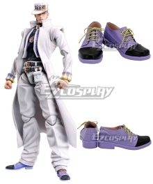 JoJo's Bizarre Adventure: Diamond Is Unbreakable Jotaro Kujo Purple Black Cosplay Shoes