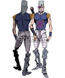 Jojo'S Bizarre Adventure: Golden Wind Jean Pierre Polnareff Cosplay Costume