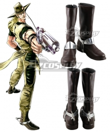JoJo's Bizarre Adventure Hol Horse Brown Shoes Cosplay Boots